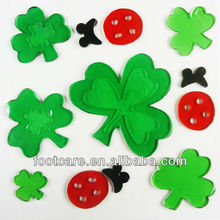 decorative clover shaped window Gel sticker