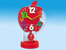 Funny Apple Shape Pendulm Clock.Kids Apple Shape Alarm Clock For Kids STP-262539