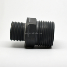 High quality gray plastic cnc machining parts, car filter parts with thread and hex wheel