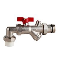 High quality PPR brass angle sleeve valve copper ball valve threaded water ball valve