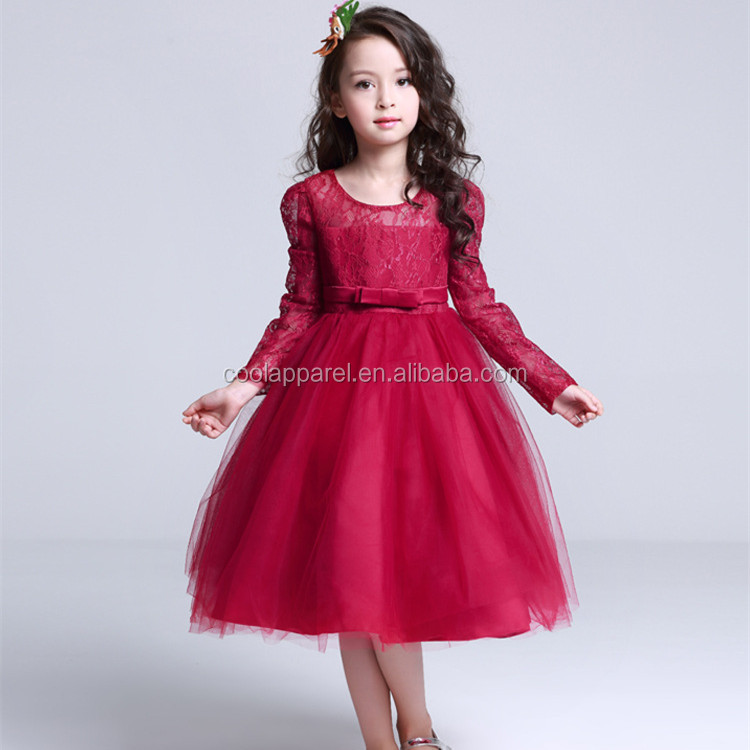 New design party winter lace wedding dresses for girls boutique girl clothing