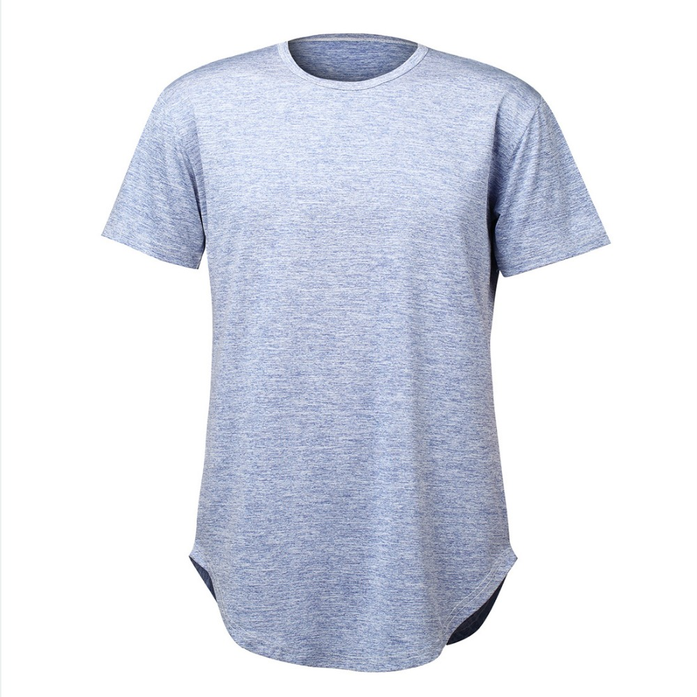 Wholesales fashion stock sexy longline blank scoop men's gym <strong>t</strong> <strong>shirt</strong>