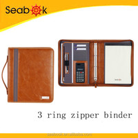 Office PU A4 leather binders with printed logo