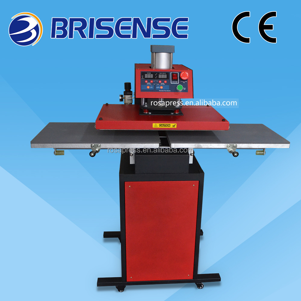 2016 hot sale double station pneumatic transfer heat press with CE Certification