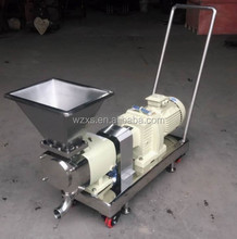sanitary lobe pump with trolly and caster for date paste transfer