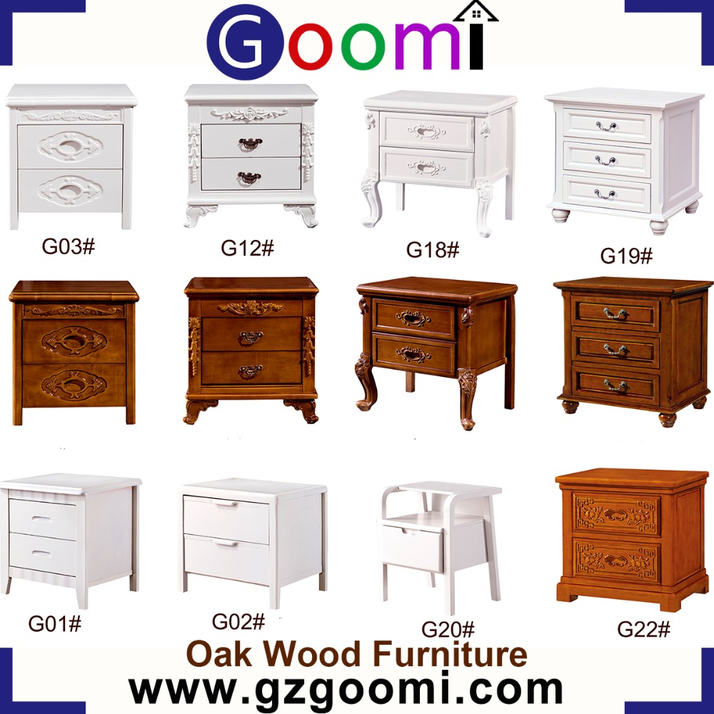 Factory Supply Goomi Furniture Bedroom Use Solid Wood Night Stand small bedside table