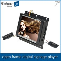 Flexible 7 inch auto-playing open lcd advertising display, frameless digital signage, advertising screen