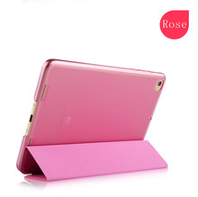 Stylish High quality flip leather for xiaomi mipad case with Auto-wake/sleep Function