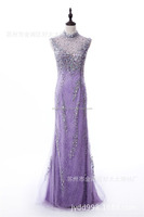 Fashion Banquet Dress Sequins Crystal Evening Dress Long Formal Party Dress