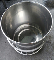 Customize Stainless Steel Storage Bucket with wheels for sale
