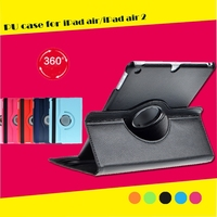 360 Degree Rotating Leather Tablet Case for ipad air/ipad air 2