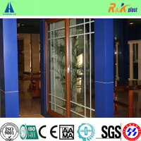 Plastic PVC door with decorative bar