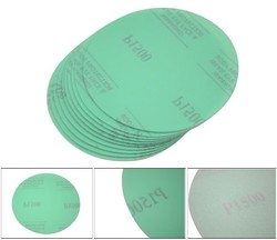 "FOR Disc Disc 1500 Grit 5"" Psa Green Auto Sanding Paper Sheets Repair Sand Velcro 10pcs"