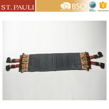 45 inch hot sale chenghai factory directly sale classical white dot black background cloth halloween table runner