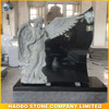 China Black Granite Cemetery Angel Tombstone