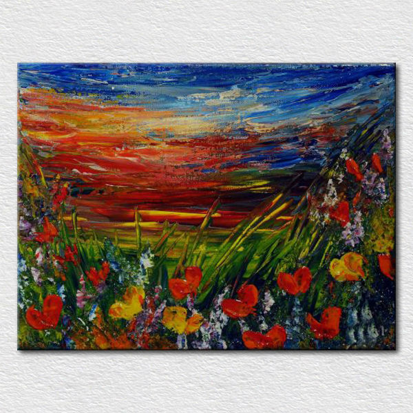 Decoration palette knife impression oil painting Fine craft made by hand as gift for customer