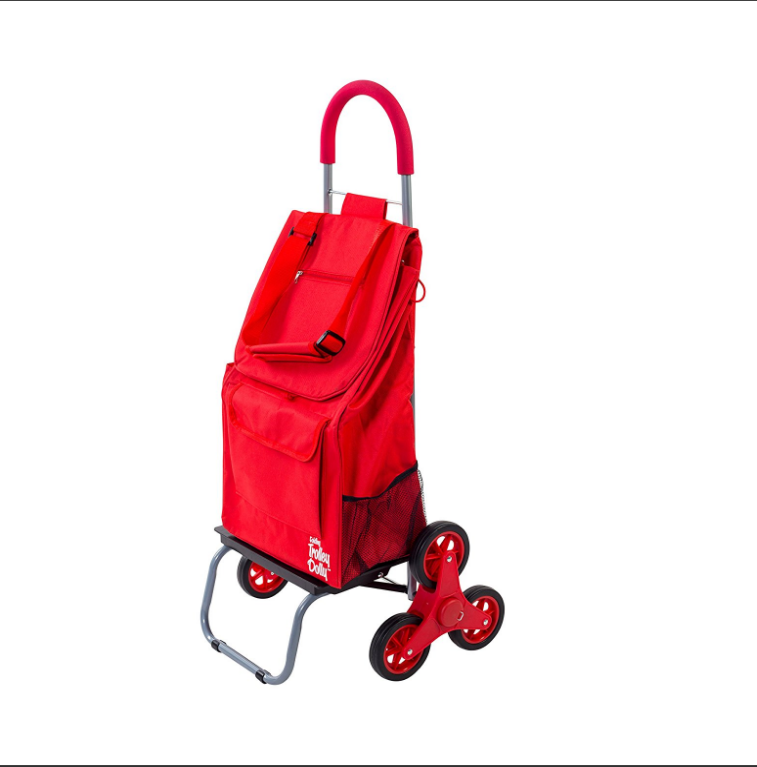 new style Wholesale 600D polyester high quality Foldable shopping trolley cart bag with wheels