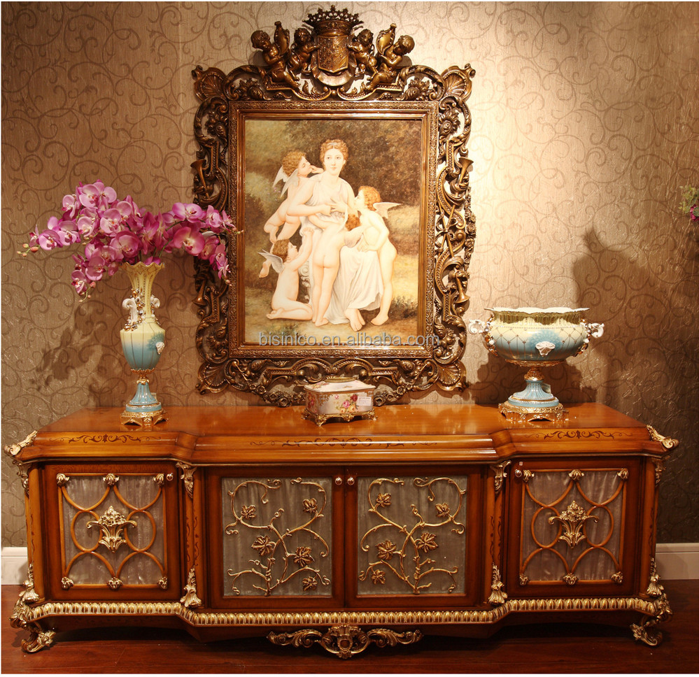 Luxury Victorian Style Solid Wood Rose Sofa Set Elegant