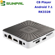 subscribe my account to 1080p full hd channels sunpal android 7.1 tv box c8 player media player 1gb 8gb rk3328 4k smart iptv box