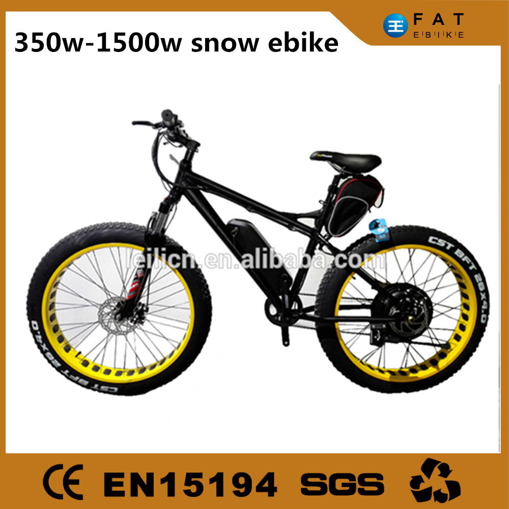 chinese producer 26inch big tire electric mountain bike/fat bicycle for sale