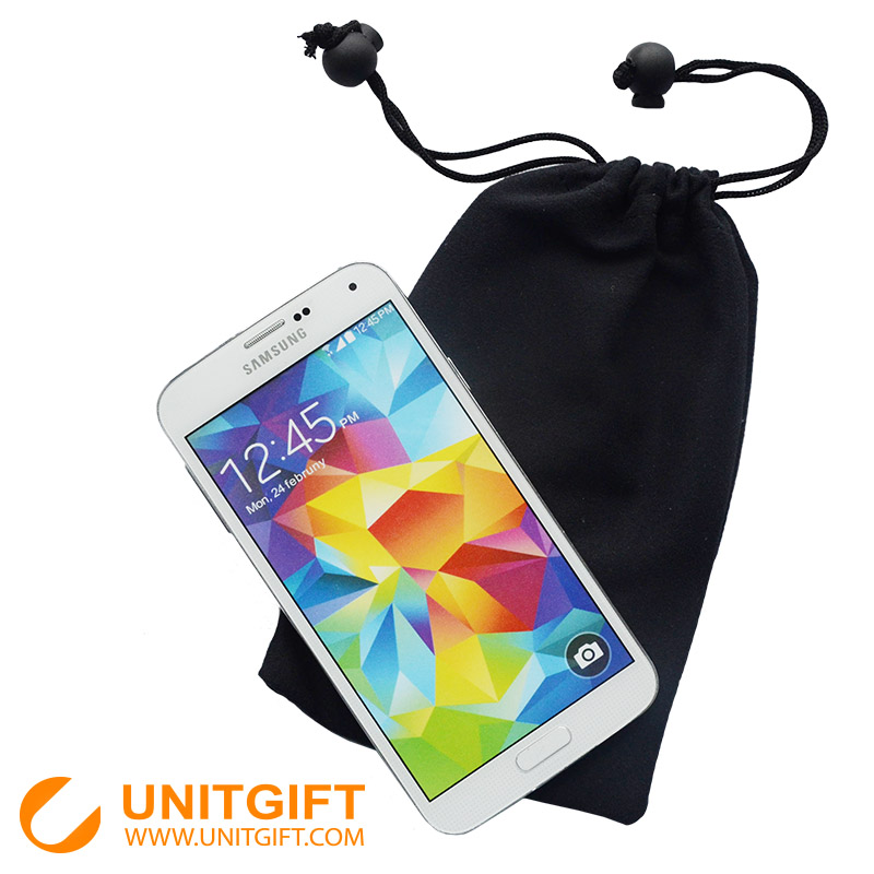 Magic cell phone pouch bag drawstring