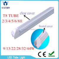 Brand New T8 Led Tube Lights 9W 13W 22W 44W 4FT 1.2m-2.4m 4ft-8ft led tube integrated 180 Angle Cool White