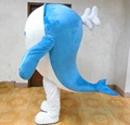 HOLA big blue whale mascot costume for adult