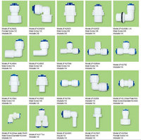 pvc pipe fitting male/female elbow support for water purifier