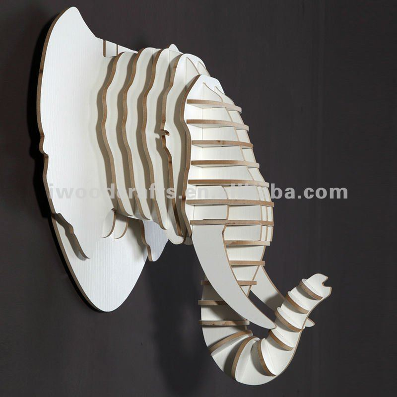 white elephant wall decoration, wall hanging decoration, elephant head