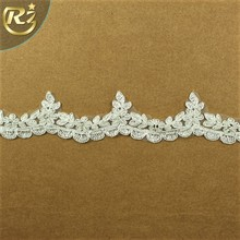 LB-481 Factory Price Net Embroidery For Girl Neck Design 2017 Ribbon Lace Trim