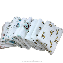 High quality 100% cotton printed super soft fabric for baby blanket baby printed waterproof fabric