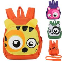 Latest Design Ahead Big Eye Animal Zipper Pocket Detachable Rein Safe Harness Toddler Kids Bag for School
