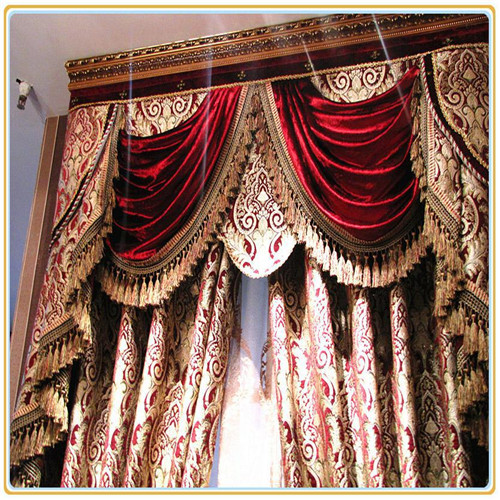 Fashionable and beauty metallic curtain fabric embroidery lace curtain fabric