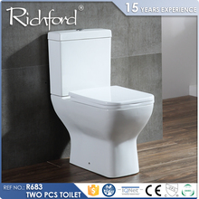 Watermark Certificated Water Ratting Two Piece Wall Drain Rimless toliet seat
