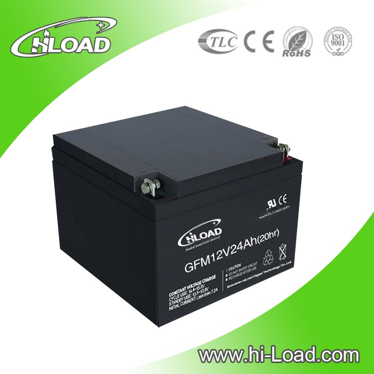 Full power solar battery 12V 24AH 20hr agm ups battery price