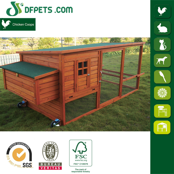 DFPets DFR065 Handmade Outdoor Wooden Rabbit Hutch