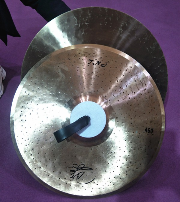 Tongxiang 100%handmade TNJ Marching cymbals Pair for sale