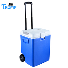 Modern design electric cooler box with wheels