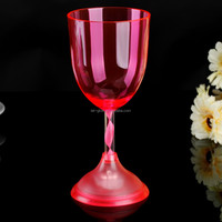 300ml LED Light-up Wine Glass LED Wine Glass With Long Stem-10oz