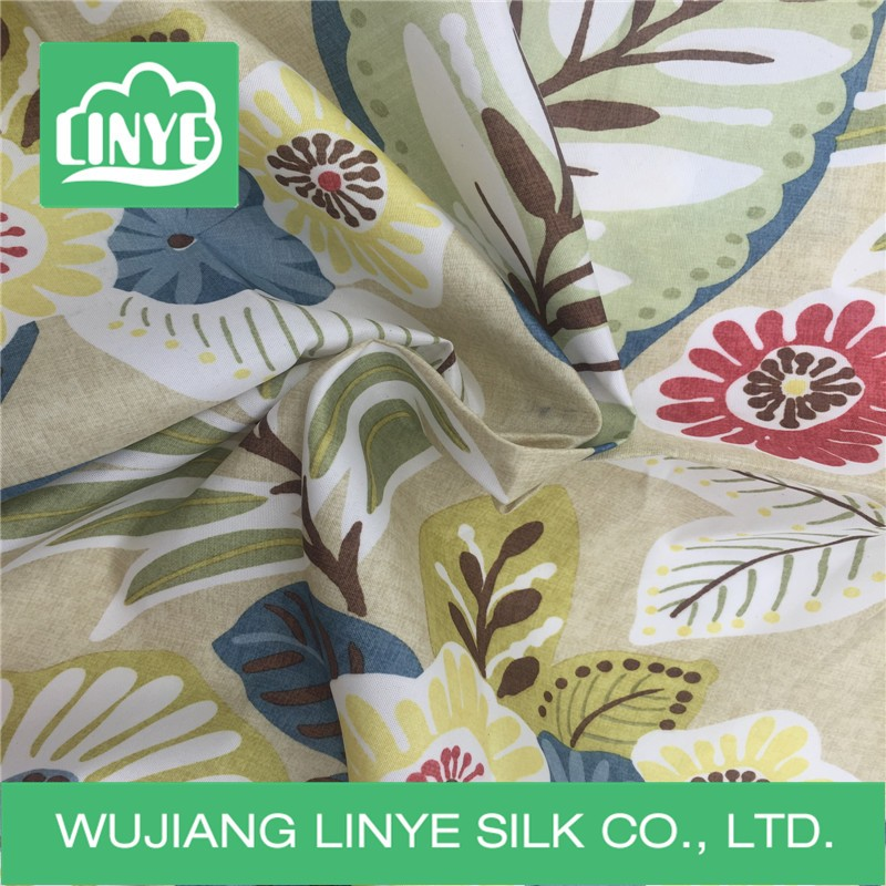 table cloth, shower curtain use woven polyester printed fabric for home textile