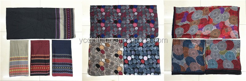 Colorful circle printing latest muslim fashion hijabs