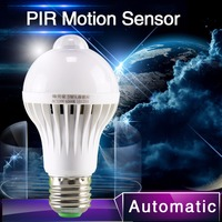 Auto Smart PIR Motion Sensor Lamp 5W E27 Led Light Bulb Led PIR Infrared Body Light With Motion Sensor Lights