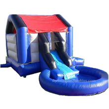 Factory Direct Price Commercial Grade Inflatable Bouncy House With Pool/Kids Inflatable jumping House With Water Slide Pool
