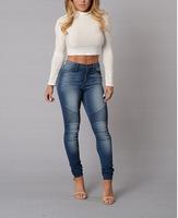B10351A high quality women top fashion jeans high waist jeans