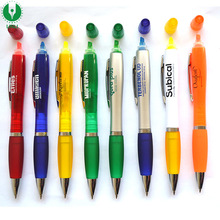 Direct Factory Promotional Plastic Pen With Highlighter, Highlighter Ball Pen, Plastic Highlighter Pen