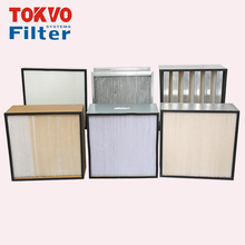 high efficiency Big air volume and small resistance synthetic fiber hepa air dust types of cartridge filter
