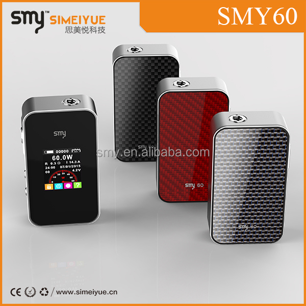 Ecigator original smy60 GOD180 Box Mod 60W box mod with magnetic back cover china wholesale DNA 50