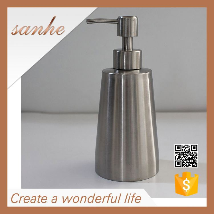 OEM custom stainless steel bathroom accessory soap dispenser