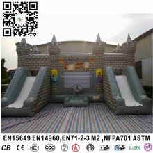 Inflatable giant water slide inflatable bouncer castle with double slide for kid
