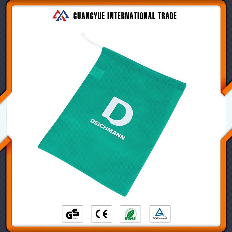 Guangyue China Cheap Goods Hot Sale Full Color Printed Drawstring Non Woven Folding Bag